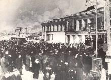 08-Приытие-первого-поезда-с-Целинниками-на-ст.-Акмолинск-1954-г-репродукция